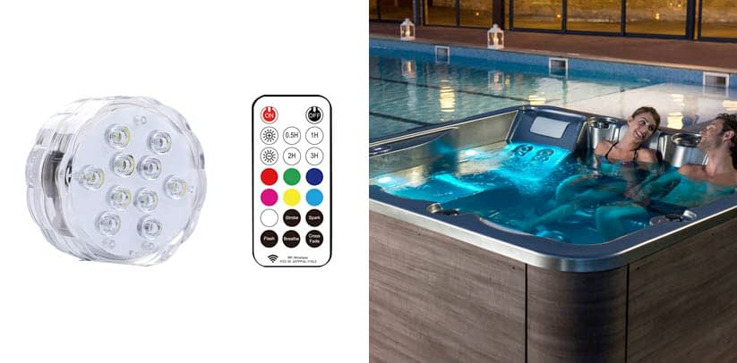 Idealife Magnetic Submersible LED Lights with Remote