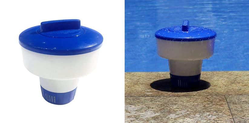 Pool Supply 7 Inch Floating Dispenser Collapsible