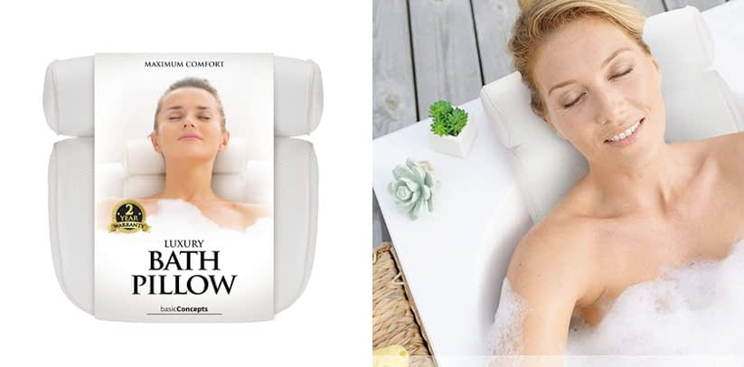 Bath Pillow Luxury Bathtub Pillow Rest
