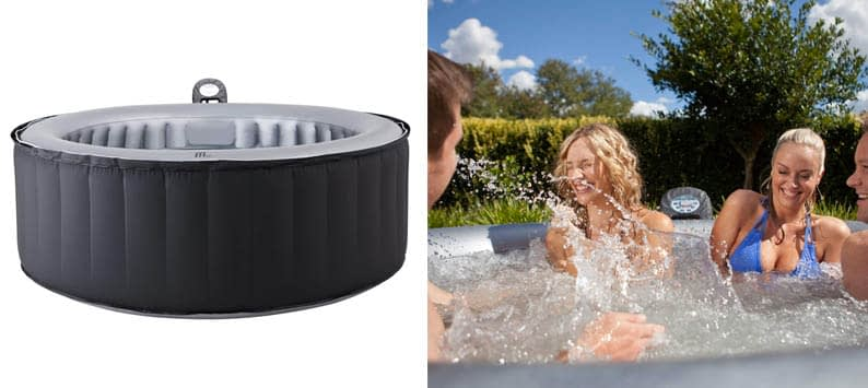 Modern-Depo Mspa Lite Silver Cloud Inflatable Hot Tub