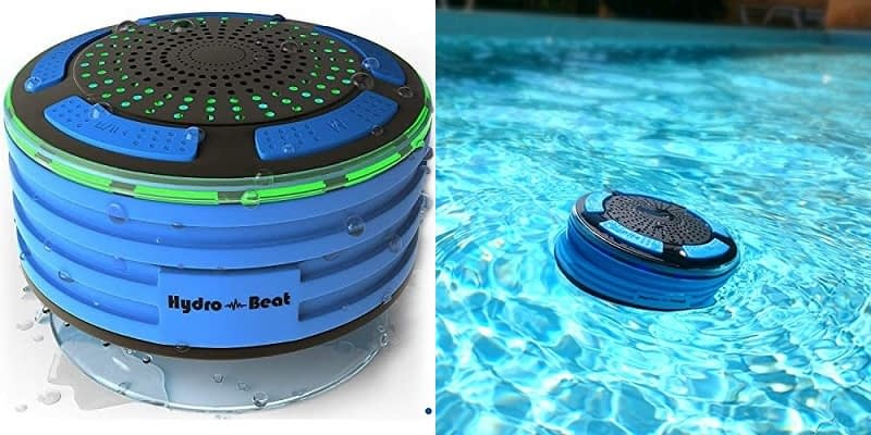 Hydro Beat Portable Waterproof Bluetooth Speaker with Led Lights