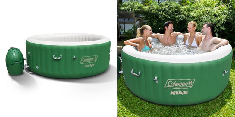 Coleman 6 Person Saluspa in Green & White