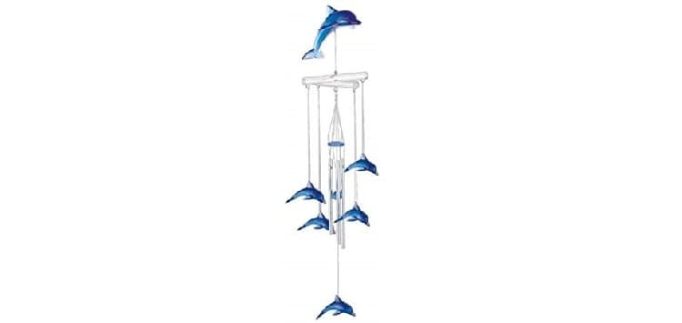 StealStreet Wind Chime Acrylic Dolphin Hanging Garden