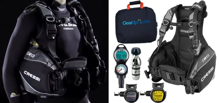 Cressi R1 BCD Diving Package