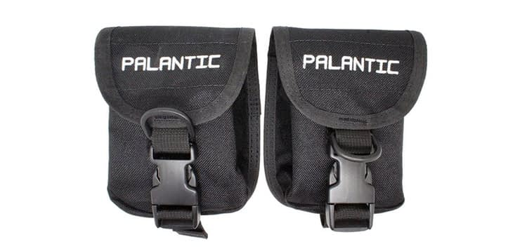 Palantic Scuba Diving Trim Counter Weight Pocket Pouch with QR Buckles