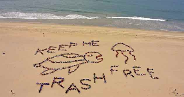 Beach clean ups are a way of how to save the ocean