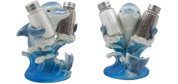 Home 'n Gifts Dolphin Riding Ocean Wave Salt and Pepper Shaker Set