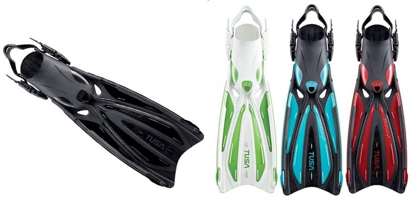 TUSA SF-22 Solla Open Heel Scuba Diving Fins