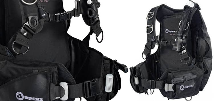 Apeks By AquaLung Black Ice Back Inflate BCD