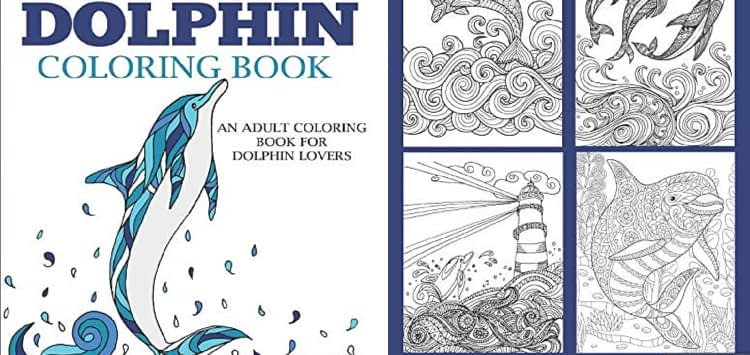Dolphin Adult Coloring Book by Dylanna Press