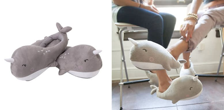 Smoko Adorable Narwhal Slippers