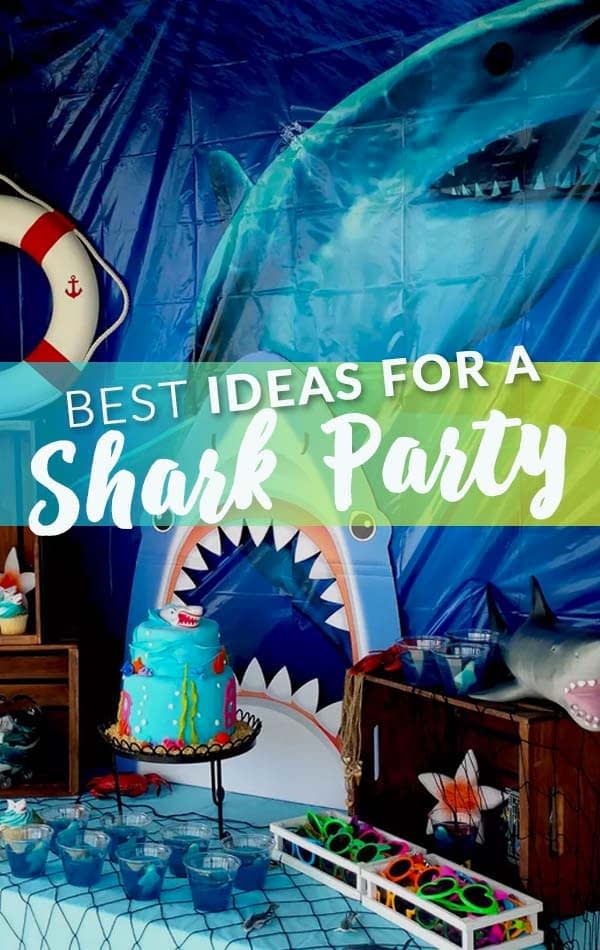 Best Ideas for a Shark Party Side Bar Banner