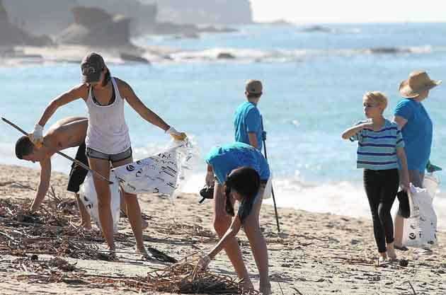 Cleaning ocean and beaches