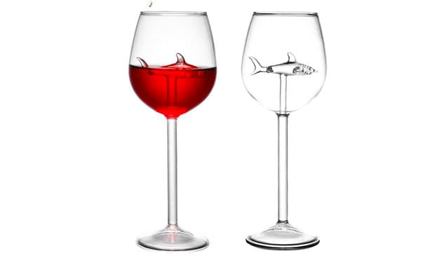 HOMEACC 2 Packs Shark Wine Glass Goblets