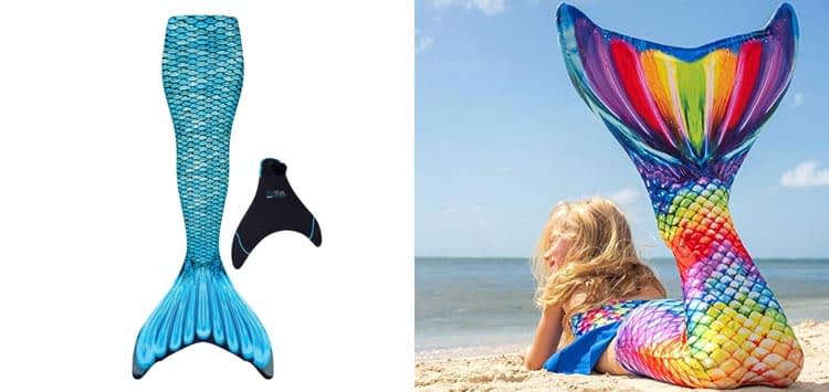 Fin Fun Wear-Resistant Mermaid Tail for Swimming with Monofin Insert