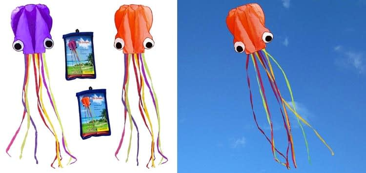 Hengda kite Pack 2 Colors autiful Large Easy Flyer Kite for Kids-software octopus
