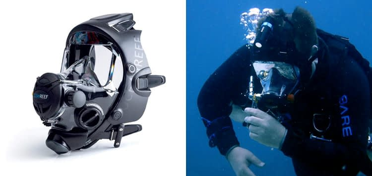 OCEAN REEF Unisex Space Extender Integrated Full Face Diving Mask