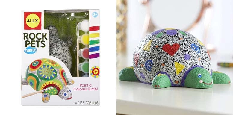 Alex Craft Rock Pets Turtle Kids Art and Craft Activity