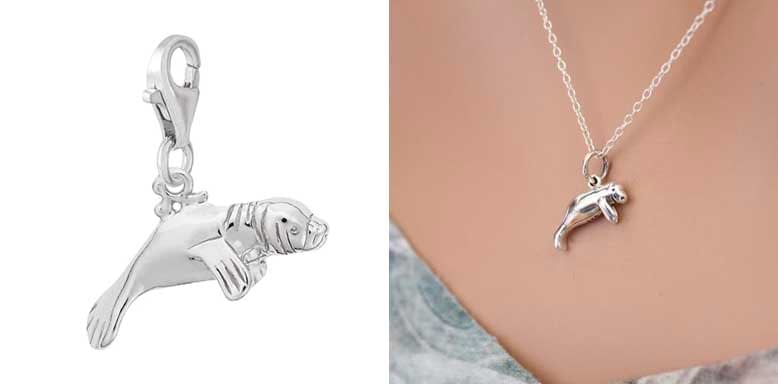 Rembrandt Charms Manatee Charm with Lobster Clasp