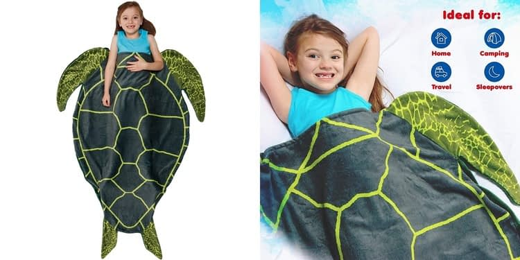Silver Lilly Turtle Kids Animal Tail Sleeping Bag