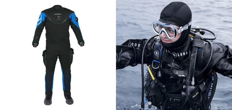 AQUALUNG Fusion Bullet with Air Core Dry Suit