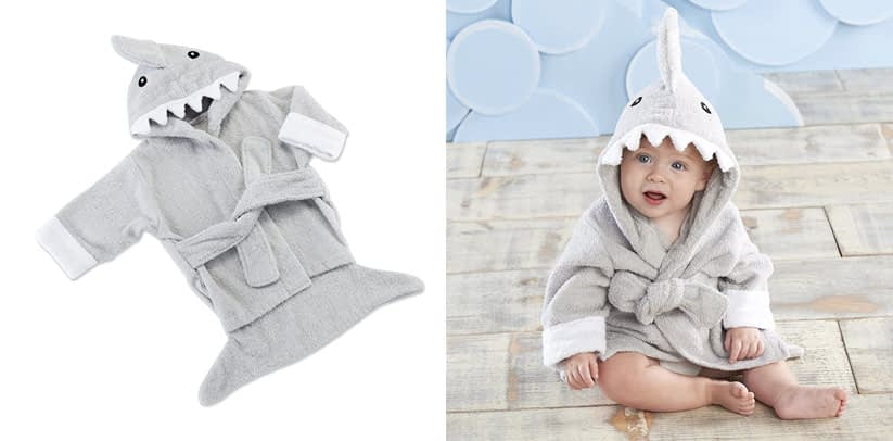 Baby Aspen Hooded Shark Robe
