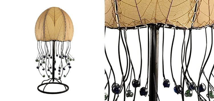 Eangee Home Design Jellyfish Table Lamp in Natural