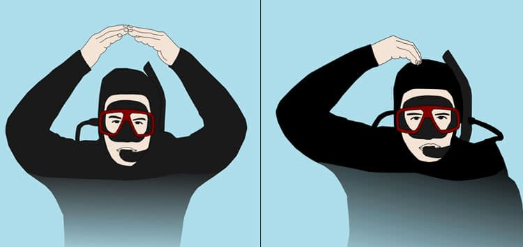 Scuba Hand Signals Okay At The Surface