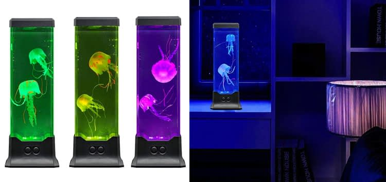 Electric Jellyfish Tank Table Lamp