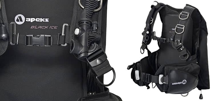 Apeks by Aqua Lung Black Ice Back Infalate BCD