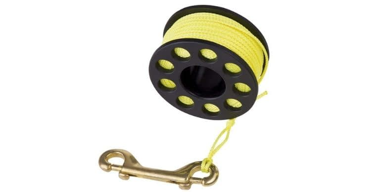 Trident Diving Equipment Finger Reel with Brass Clip