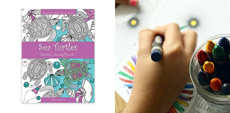 Sea Turtles- Adult Coloring Book