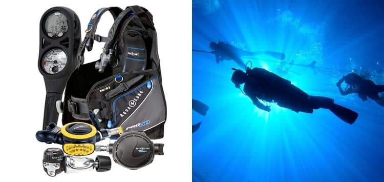 Aqua Lung Pro HD BCD i300C Dive Computer Titan ABS Regulator Set