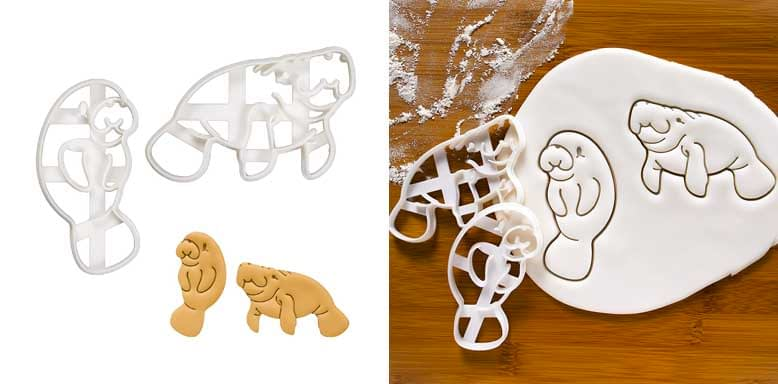 Bakerlogy Set of 2 Manatee cookie cutters