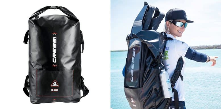 Cressi DRY GARA BACKPACK - Waterproof Freediving Scuba Diving Gear Bag