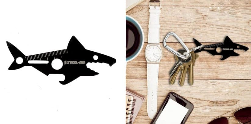 Shark Design Multi Tool card with Bottle Opener