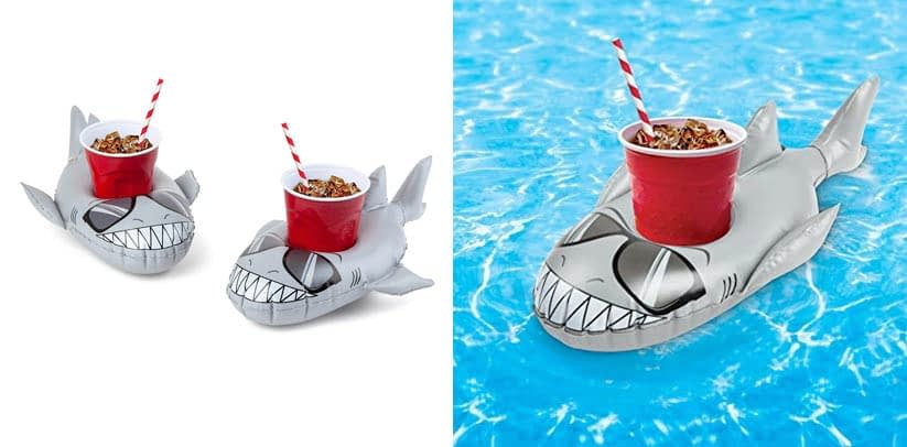 BigMouth Inc. Inflatable Super Chill Shark Floating Drink Holder