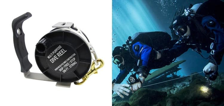 Scuba Choice Diving Stainless Steel Heavy Duty Multi-Purpose Dive Reel 290ft