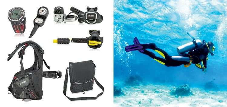 SEAC Guru Dive Computer Scuba Regulator BCD Package