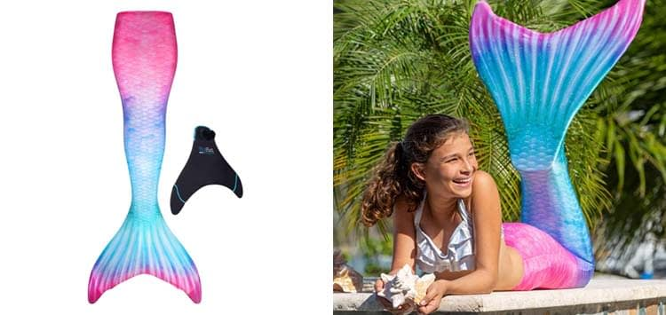 Fin Fun Mermaid Tails for Swimming with Monofin - Kids and Adult Sizes Limited Edition