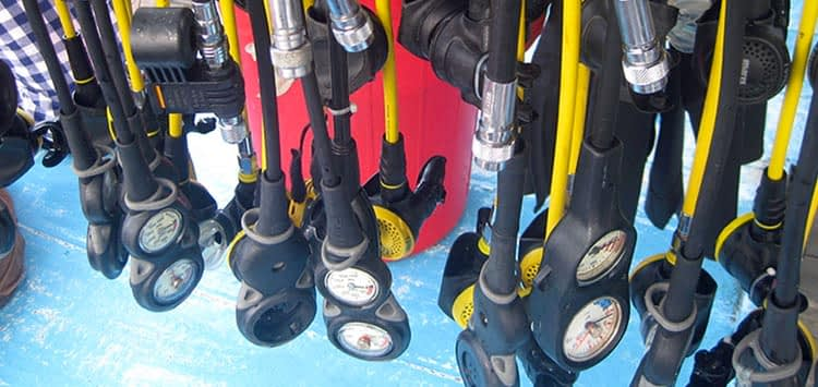 Hang your Scuba Regulator to Dry
