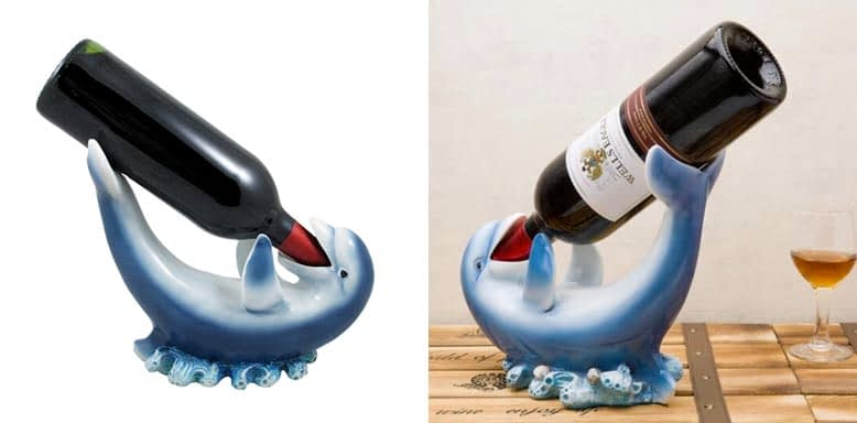 Home 'n Gifts Drinking Dolphin Wine Bottle Holder