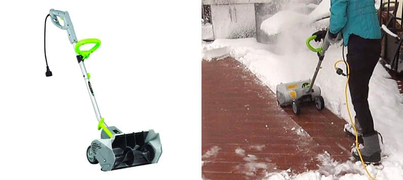 4. Earthwise SN70016 Corded Snow Shovel