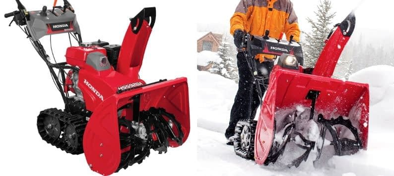 Honda Power Equipment HSS928AATD 9HP 28In Two Stage Track Drive Snow Blower, Electric Start