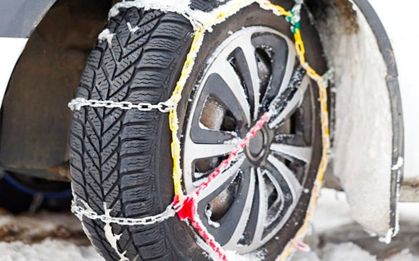 Using Snow Tire Chains in Winter