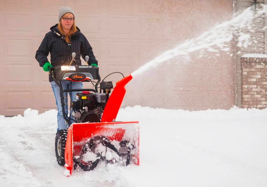 Using an Ariens Snow Blower