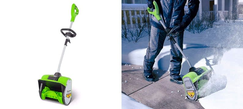 2. Greenworks 2600802 Corded Snow Shovel