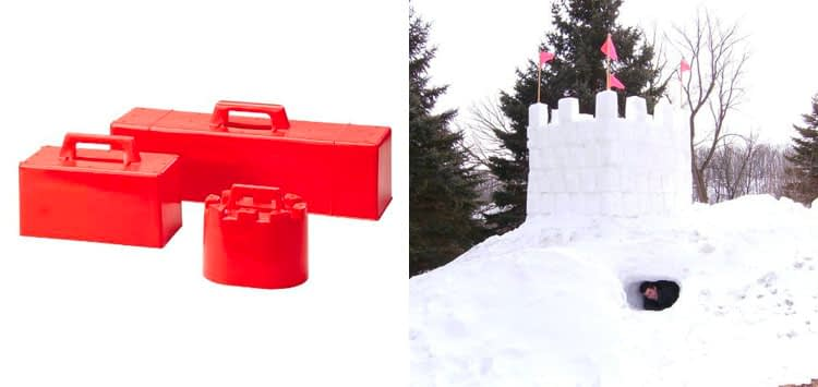 1. Flexible Flyer Snow Fort Building Kit