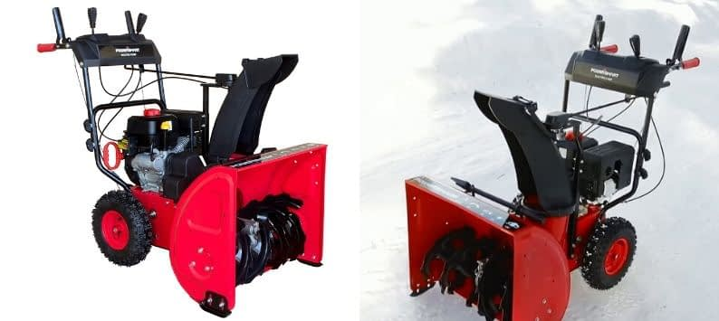PowerSmart DB7624E 24 in. 212cc 2-Stage Electric Start Gas Snow Blower