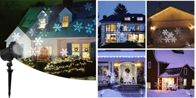 Moving Snowflake Projector Lights